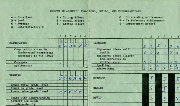 high school transcript