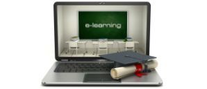 e-learning computer with diploma
